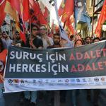 Gençlik örgütleri Suruç Katliamının 2'inci yıl dönümünde Kadıköy'de anma düzenledi