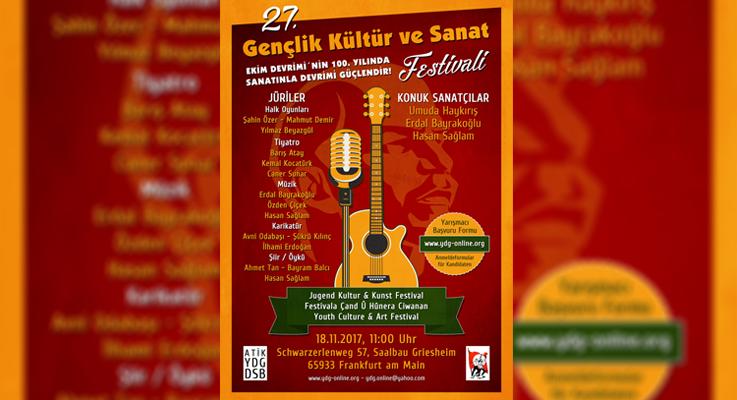 ATİK-YDG: 27. Gençlik ve Kültür Sanat Festivali'nde buluşalım