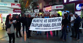 İzmir'de Nuriye ve Semih için eylem