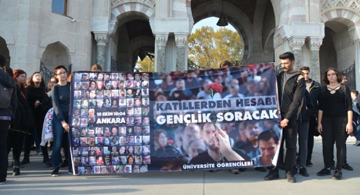 """10 Ekim Anması""""Katillerden hesabı, gençlik soracak! Üniversite Öğrencileri"""""""