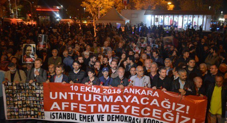 10 Ekim Anması Kadıköy'de Gerçekleştirildi