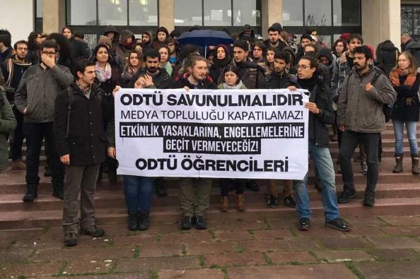ODTÜ öğrencileri, yasaklara karşı yürüdü!