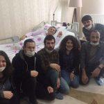 Gençlik örgütleri Leyla Güven'i ziyaret etti.
